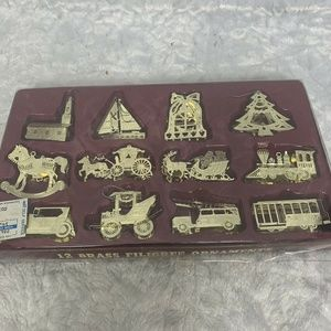 12 Brass Filigree Ornament Taiwan Cable Car,